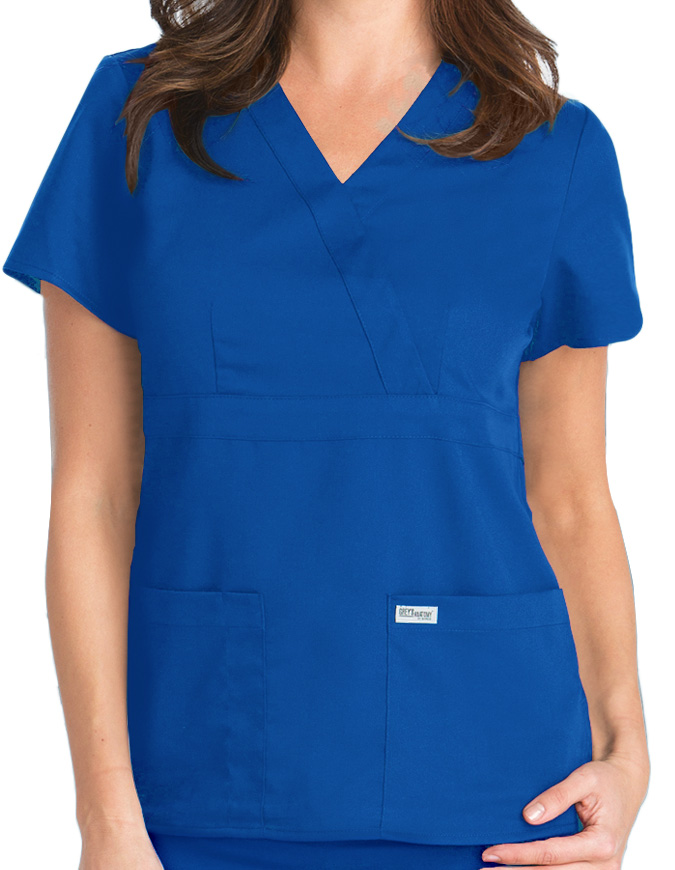 Grey's Anatomy Junior Fit Mock Wrap Nurse Scrub Top