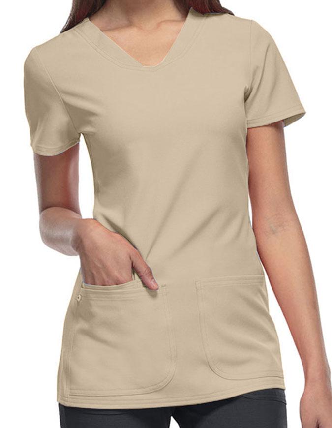 HeartSoul Women's Pitter-Pat Shaped V-Neck Scrub Top