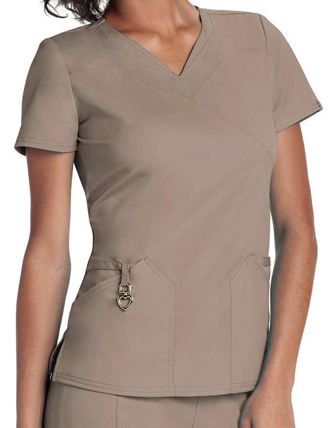 HeartSoul Head Over Heels Women's Wrapped Up V-Neck Top