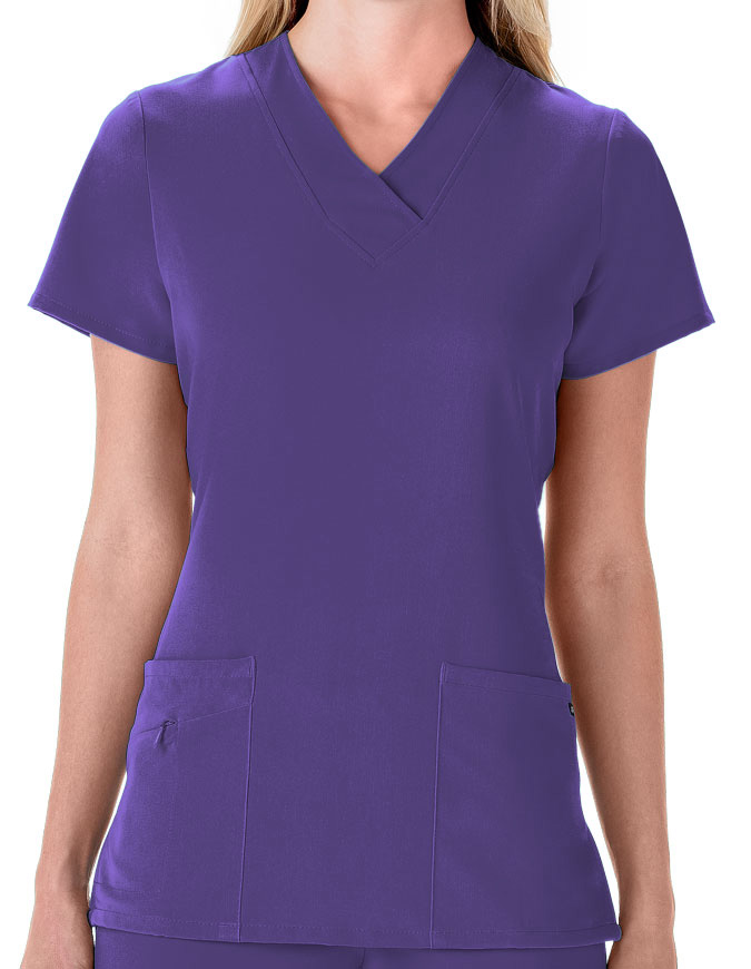 Jockey Scrubs Women Three Pocket Soft V-Neck Top
