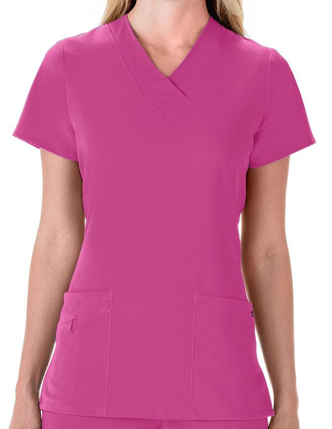 Jockey Scrubs Women Three Pocket Soft V-Neck Top