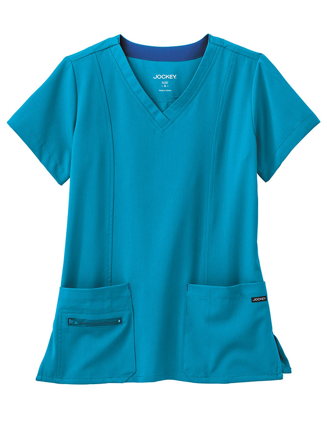 JOCKEY Women's Modern V-neck Solid Scrub Top