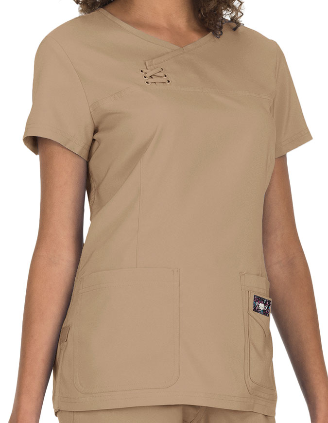 KOI Tech Serena Basic Scrubs Top
