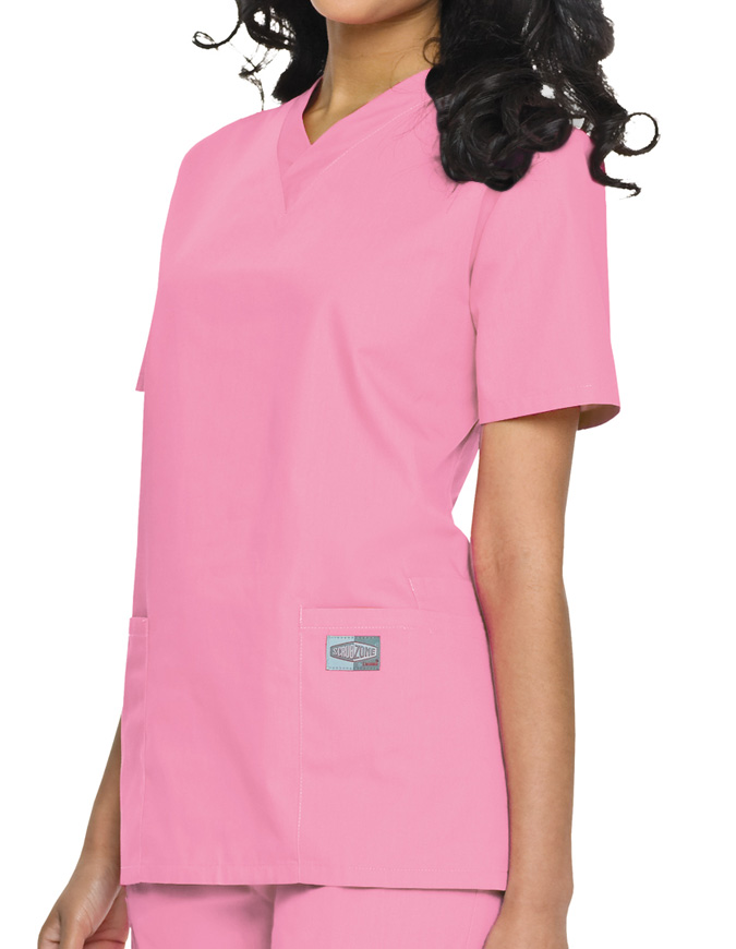 Landau ScrubZone Women's Double Pocket V-Neck Nursing Top