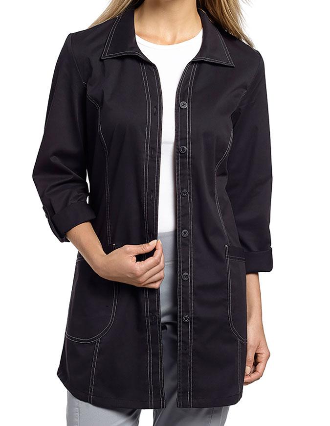 White Cross Allure Women's Shirt-tail Color Lab coat