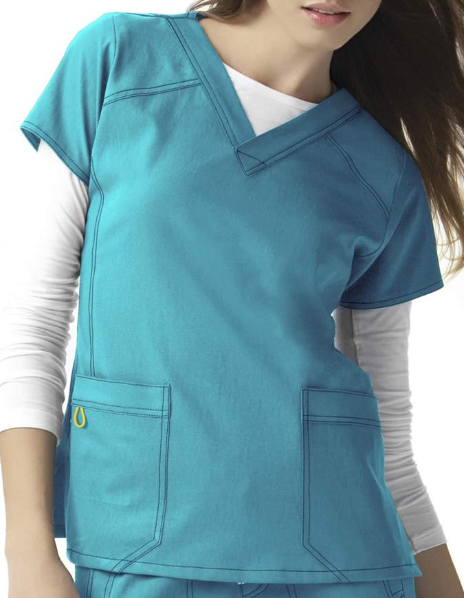 Wink Scrubs Women Sporty V-Neck Nursing Top