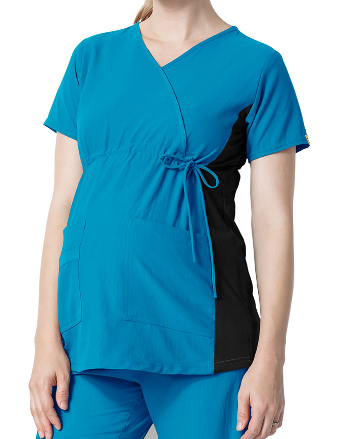 Wink Scrubs Women's Maternity Mock Wrap Top