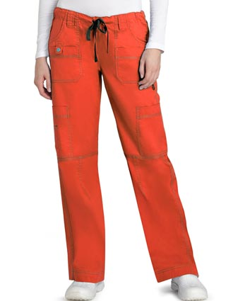Adar Pop-Stretch Junior Fit Multi Pocket Straight Leg Scrub Pants