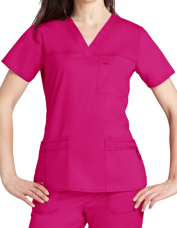 Adar Pop-Stretch Junior Fit TaskWear Scrub Top