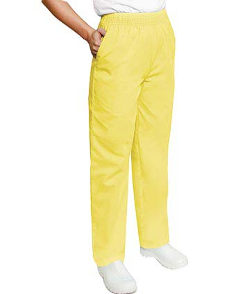 Adar Women Two Pockets Elastic Waist Medical Scrub Pants