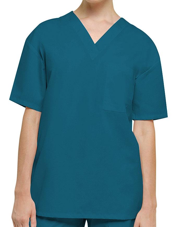 Adar Unisex Single Pocket V-Neck Nursing Scrubs