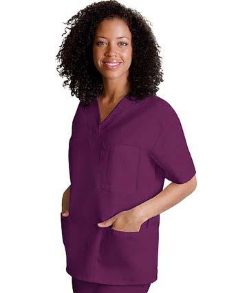 Adar Women V-Neck Three Pockets Nursing Scrub Top