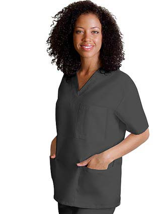 Adar Women V-Neck Three Pockets Nursing Scrub Top
