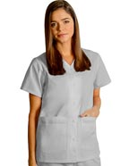 AD-604 : Adar Women Nurses Double Pocket Snap Front Scrub Top