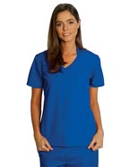 AD-609 : Adar Women Asian Style Contrast Trim Nurse Scrubs