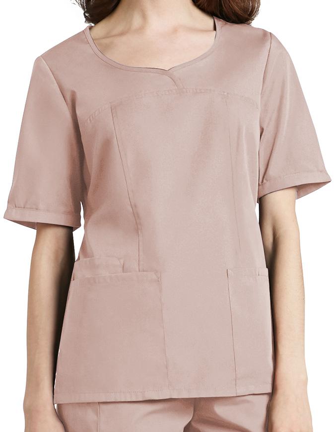 Adar Classic Fit Sweetheart V-neck Nursing Scrub Top
