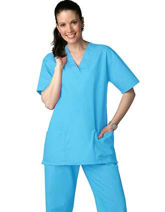 Adar Uniform Unisex Basic Nurse Scrub Set