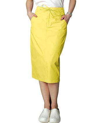 Adar Women Two Pocket Mid-Calf Drawstring Uniform Skirt