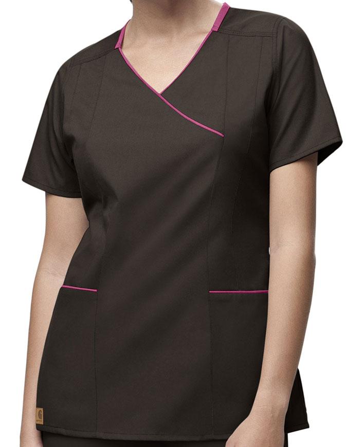 Carhartt Women Y-Neck Fashion Scrub Top
