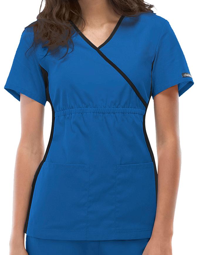 Cherokee Flexibles Women Nurses Mock Wrap Scrub Top