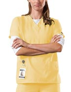 CH-4700 : Cherokee Workwear Women Two Patch Pockets Nurse Scrub Top