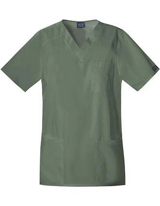 Cherokee Workwear Four Pocket Unisex V-Neck Scrub Top