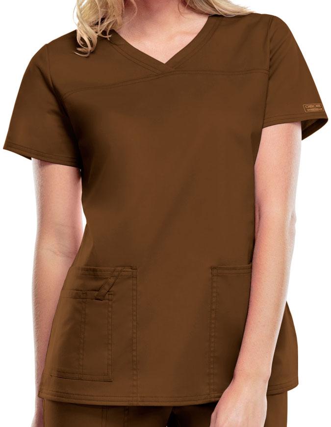 Cherokee Workwear Womens V-Neck Nursing Scrub Top