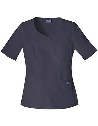 Cherokee Workwear Women Three Pocket V-Neck Top