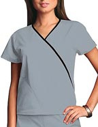 CH-4800 : Cherokee Workwear Women Two Pocket Mock Wrap Top