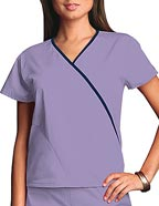 CH-4800 : Cherokee Workwear Women Two Pocket Mini Mock Wrap Scrub Top