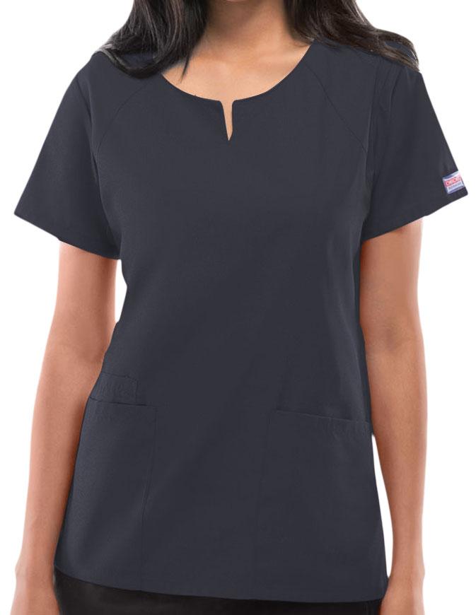Cherokee Workwear Womens Four Pocket Scrub Top