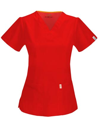 Code Happy Antimicrobial Women's V-Neck Top