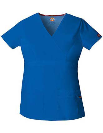 Dickies EDS Women's Jr. Fit Mock Wrap Nursing Scrub Top