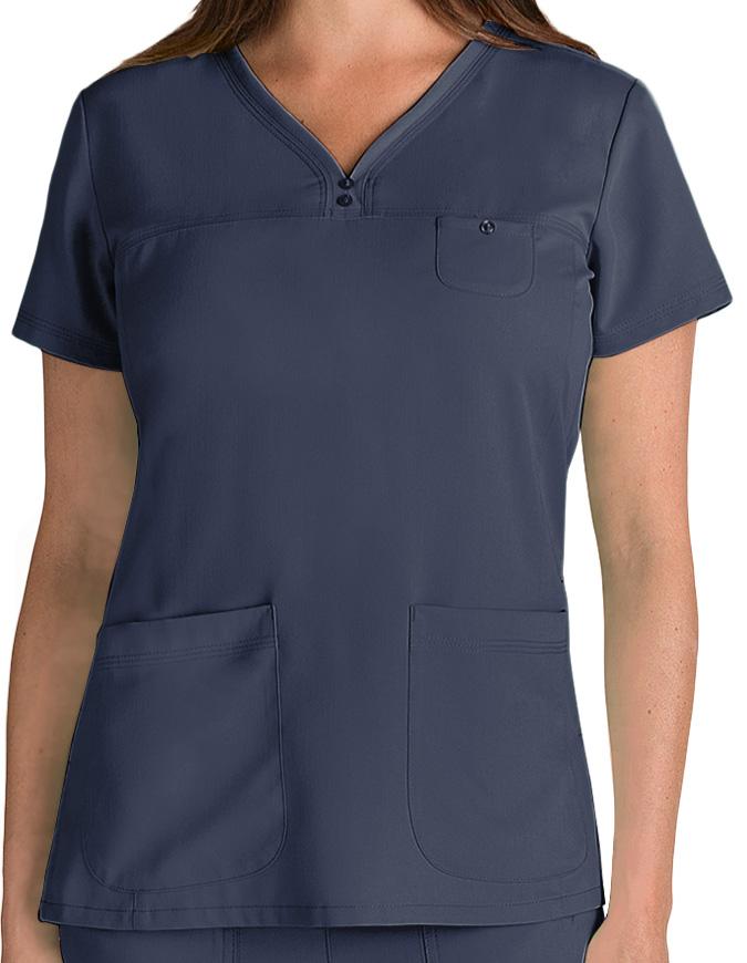 Grey's Anatomy Junior Fit Three Pocket V-Neck Scrub Top