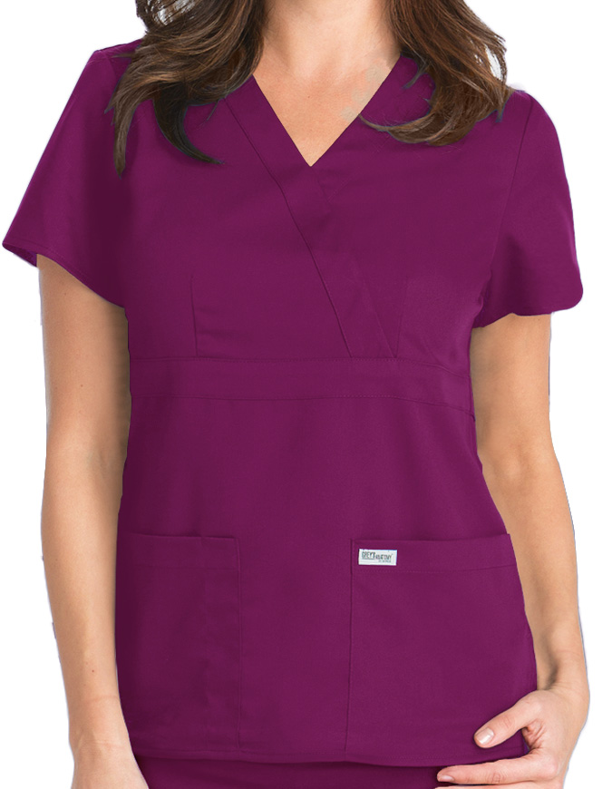 Grey's Anatomy Junior Fit Mock Wrap Nurse Scrub Top