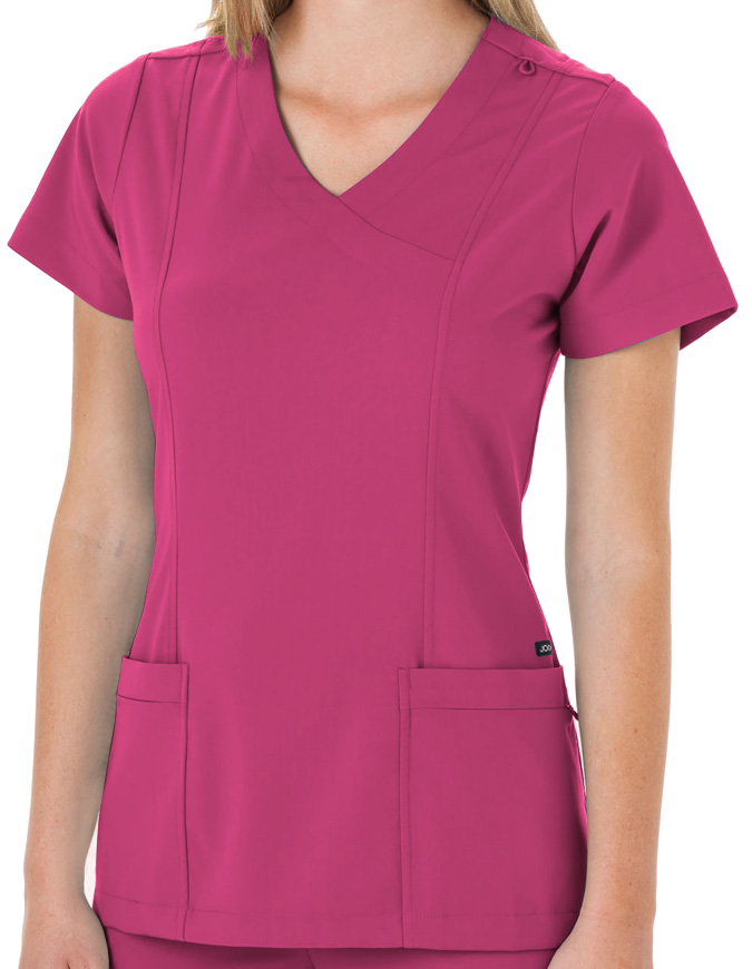 Jockey Scrubs Ladies Mock Wrap Scrub Top