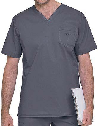 Landau Men's Stretch V-Neck Solid Nursing Scrub top
