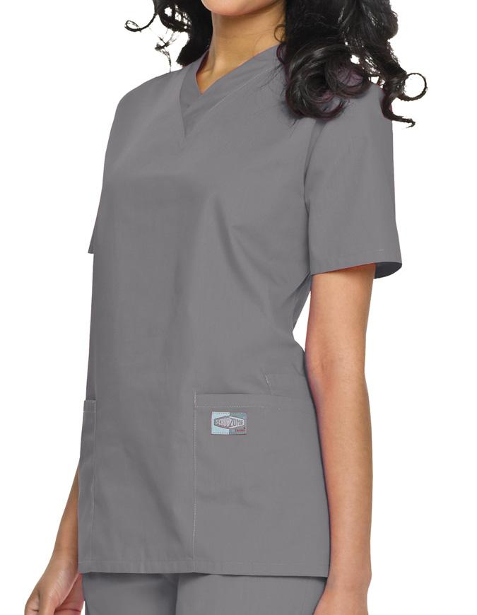Landau ScrubZone Womens Double Pocket V-Neck Nursing Top