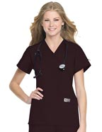 LA-70224 : Landau ScrubZone Women Two Pockets Nursing Scrub Top
