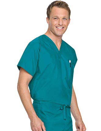Landau Unisex V-Neck Reversible Scrub Top