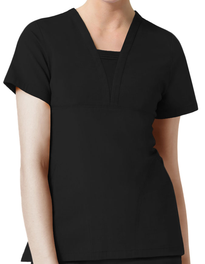 Maevn EcoFlex Women's Pintuck V-Neck Top
