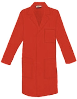 Unisex 40 inch Three Pocket Assorted Colored Long Lab Coats