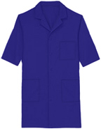 PU-1018 : Unisex 40 inch Three Pocket Assorted Colored Lab Coats