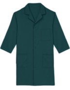 PU-1019 : Unisex Three Quarter Sleeves 40 inch Three Pocket Colored Lab Coats