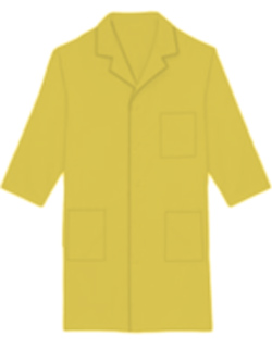 Unisex Three Quarter Sleeves 40 inch Three Pocket Colored Lab Coats