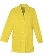PU-1029 : Womens 32 inch Three Pocket Snap Front Colored Lab Coat
