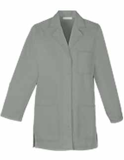 Women Colored 32 inch Three Pocket Short Twill Lab Coat