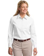 SA-L608 : Sanmar Port Authority Ladies Long Sleeve Easy Care T-Shirt