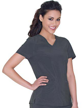 Urbane Women's Motivate V-Neck Solid Scrub Top
