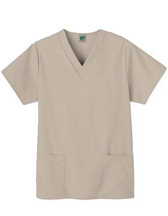 White Swan Fundamentals Two Pocket V-Neck Scrub Top
